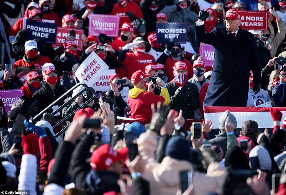 US Election 2020: Donald Trump in Iowa for second rally stop of day