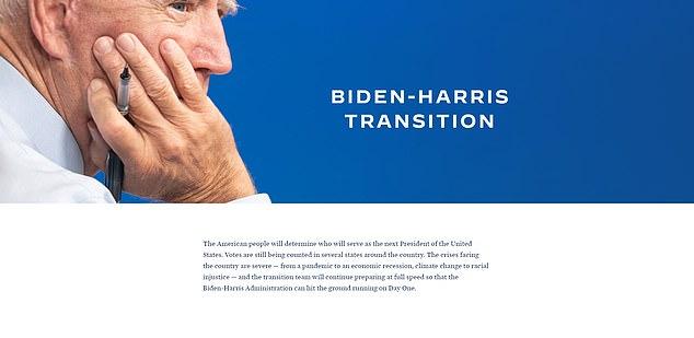 US Election 2020: Joe Biden has ALREADY launched transition website
