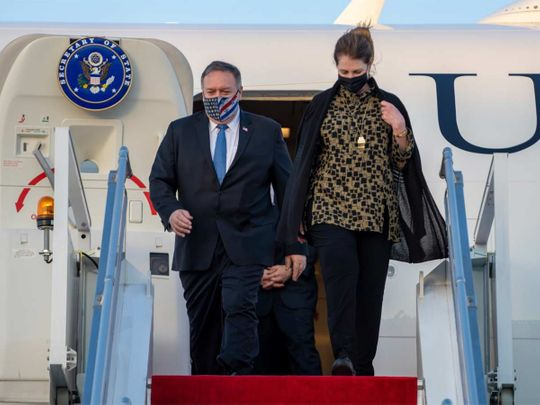 US Secretary of State Mike Pompeo arrives in Abu Dhabi