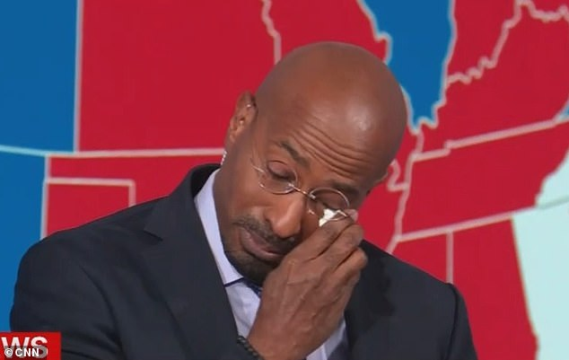 Van Jones breaks down in tears live on CNN after the network calls the election for Biden