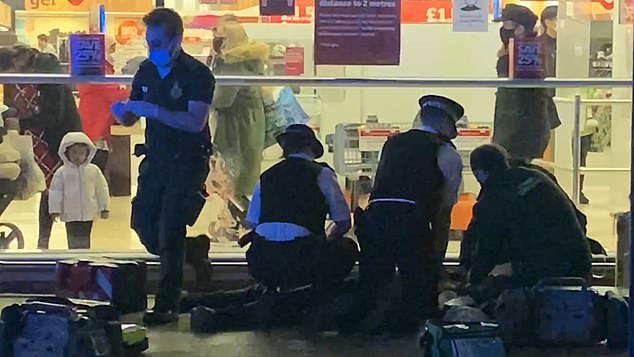 A toddler watched police and paramedics fight in vain to save the life of a 15-year-old boy who was stabbed to death in a double knife attack in south London earlier this week