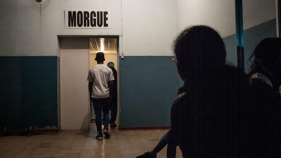 Morgue in Madagascar.