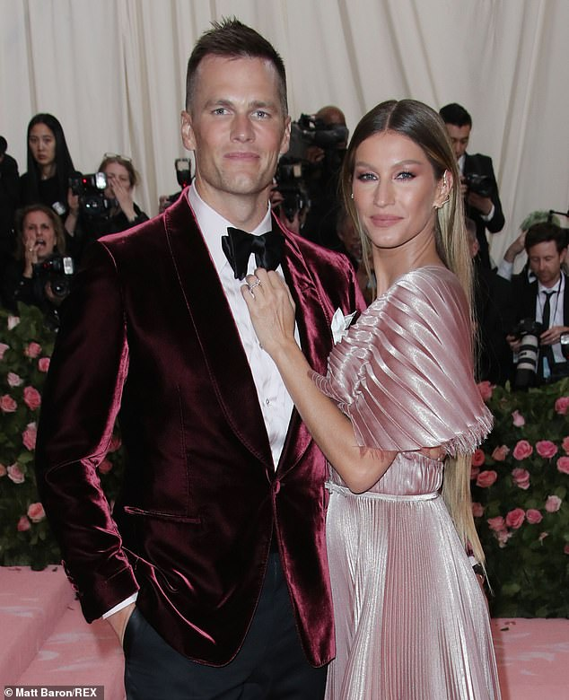 Mom and Dad: Gisele shares two children (seven-year-old daughter Vivian and 10-year-old son Benjamin), with her professional football player husband, Tom Brady; they also share co-parenting responsibilities of his 13-year-old son John Edward Thomas Moynahan; seen in 2019