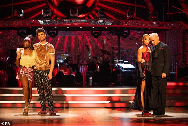 Tough: Clara and Aljaz were in the dance-off against Jamie Laing and Karen Hauer