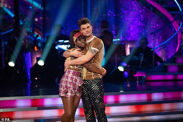 Last dance: It comes after Clara Amfo become the fifth celebrity to be eliminated from Strictly on Sunday (pictured with her dance partner Aljaz Skorjanec)