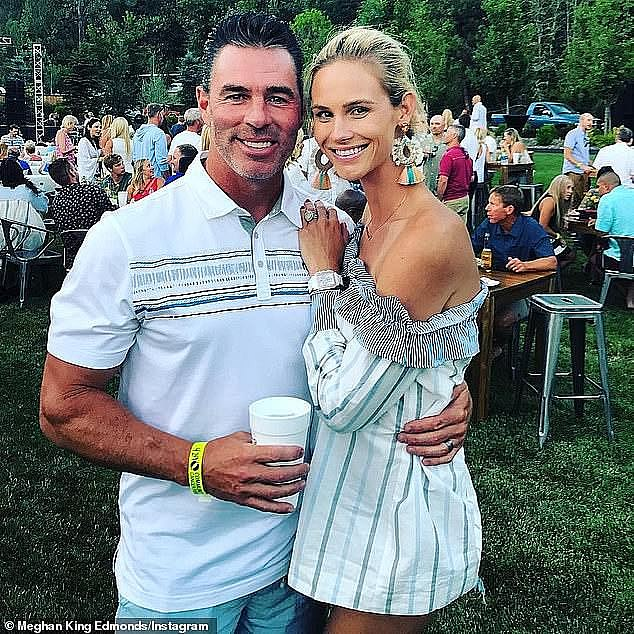 The way they used to be: Meghan with Jim before they split; seen in 2018