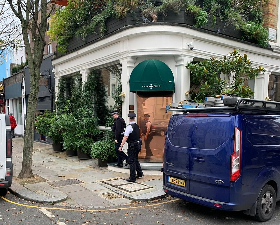 Police knocked at the door today but were not let in by staff who were inside the restaurant