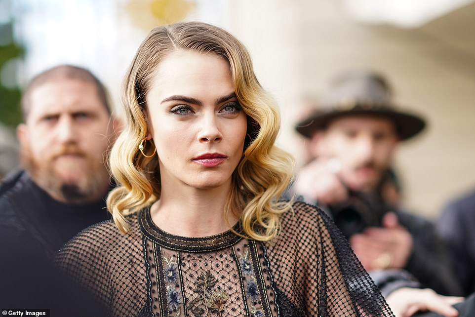 Guestlist? It is thought that Cara Delevingne was one of the people who attended the bash (pictured February 2020)