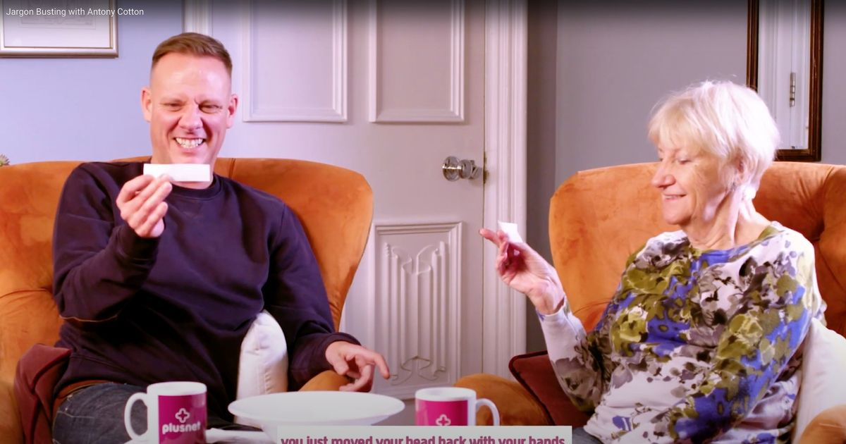 Corrie's Antony Cotton crying with laughter in 'jargon-buster' game with his mum