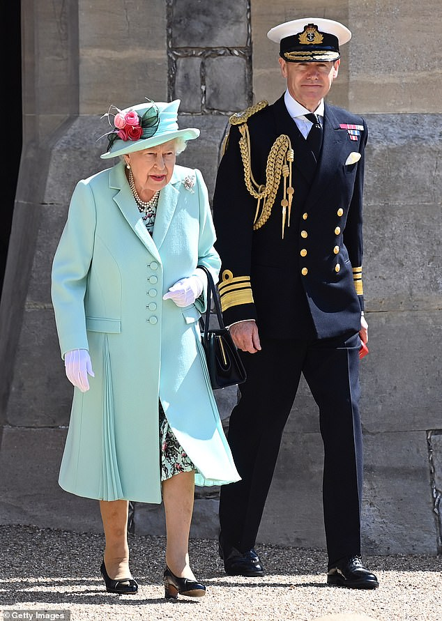 One of the medals belongs to retired Navy vice-admiral Sir Anthony Johnstone-Burt, currently the Queen's Master of the Household. Pictured with the Queen in July of this year