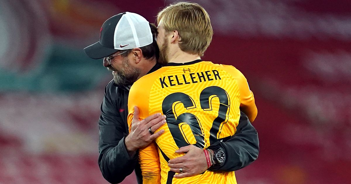 Rookie Kelleher's two Alisson moments make dream night for Liverpool goalkeeper
