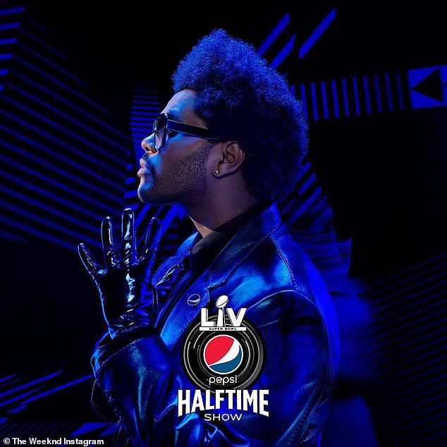 Performer: He'll soon see the bright lights of the biggest game of the year while headlining the Super Bowl LV halftime show in February at the Raymond James Stadium in Tampa Bay, Florida