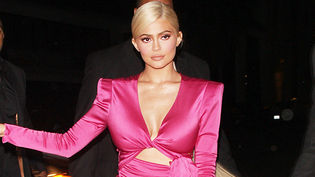 Kylie Jenner Shows Off The Inside Of Her $72M Pink Private Jet In Background Of Her Sexy New Pics