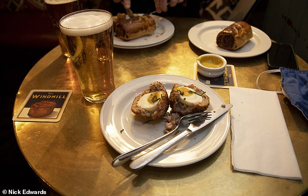 It comes as other pubs look at ways around the Tier 2 rules - including serving up scotch eggs with their drinks