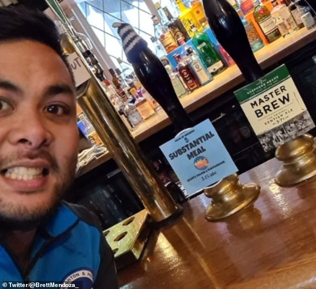 Brett Mendoza, 40, who owns the Caxton Arms in Brighton, came up with the idea as a joke while discussing what constitutes a substantial meal with another landlord
