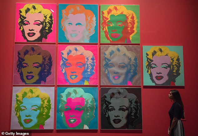 Assets at stake include a £115million art collection featuring paintings by Andy Warhol (pictured), Mark Rothko and Damien Hirst