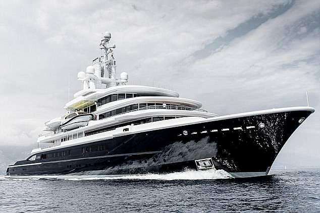 The jewel in the crown for both sides is the Luna, a £350million superyacht that used to belong to Chelsea owner Roman Abramovich (pictured)