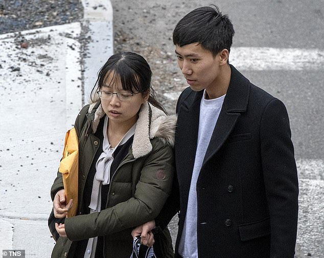 Zhengadmitted to having stolen the vials from Beth Israel Deaconess Medical Center, a hospital affiliated with Harvard, where he had been working since 2018. He is pictured with his wife last year
