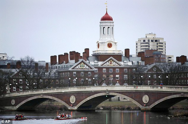 There is growing concern among US officials that China is increasing their influence at top American colleges in a bid to steal cutting-edge research intellectual property to advance their own aims. Harvard is pictured