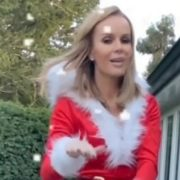 Amanda Holden stuns in skimpy Santa outfit as she catches up on household chores