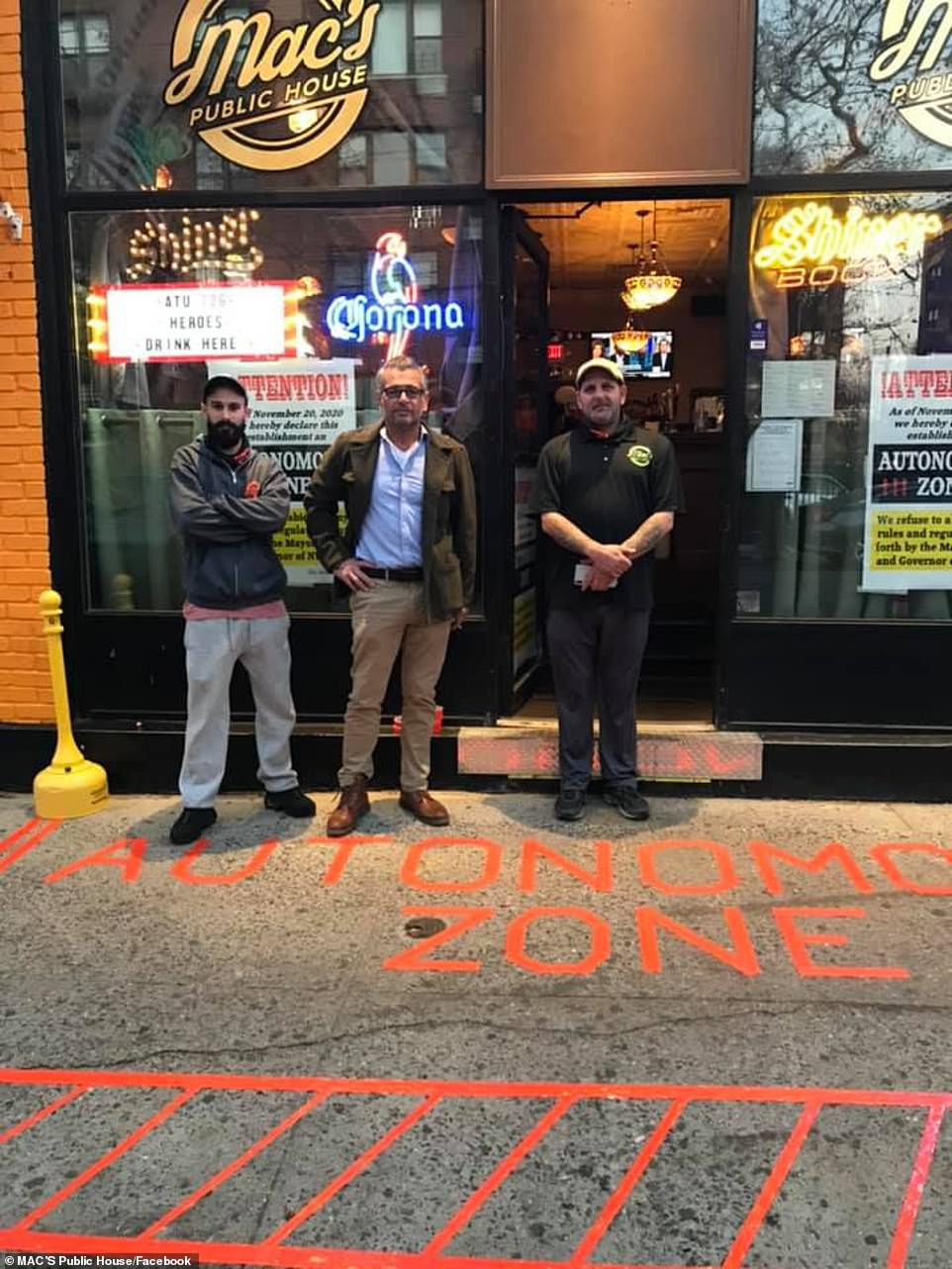 The owner ignored pandemic regulations and was briefly arrested by New York City Sheriff's