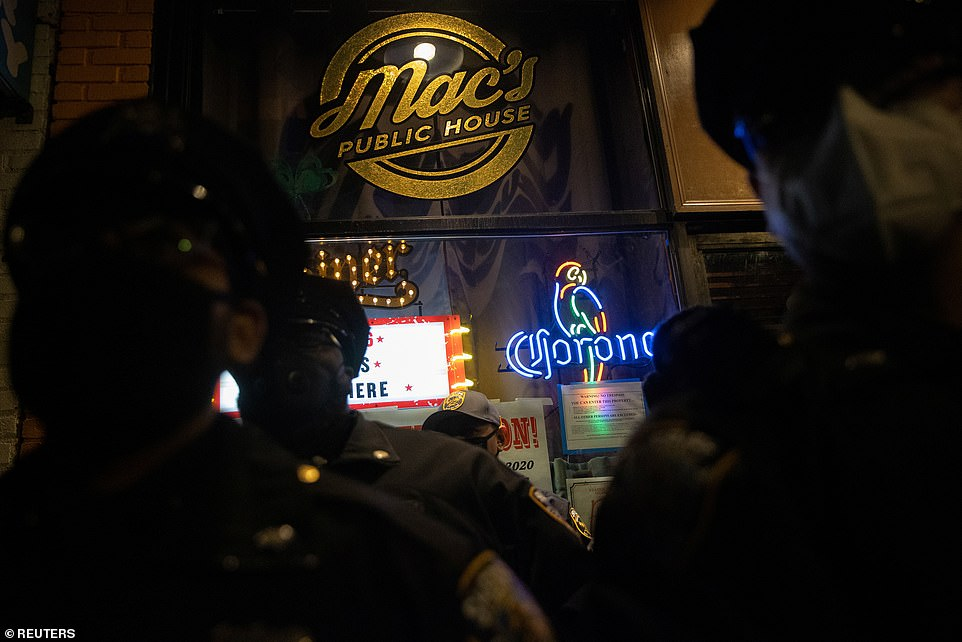 Mac's was allowed to serve takeout food and alcohol, and offer outdoor dining but it was not supposed to allow people to eat or drink inside