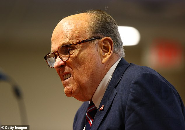 President Donald Trump's personal attorney Rudy Giuliani speaks during an appearance before the Michigan House Oversight Committee on December 2