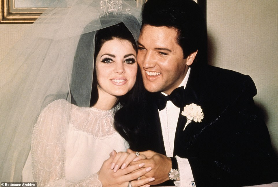 Staying close:Priscilla was married to Elvis from 1967 until 1973, before his death in 1977, she bought the home so he could be close to their daughter Lisa Marie, 52 (pictured in 1967)