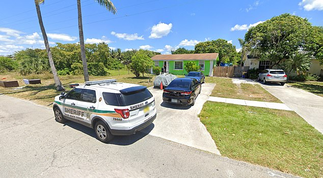 A Google Image street view of the home shows a Sheriff's patrol vehicle parked out front.Quinonez has several previous arrests and convictions for domestic violence and battery charges
