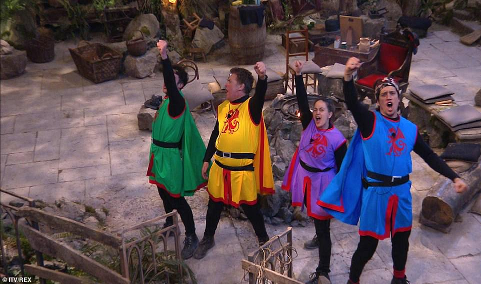 Team:The celebs got to adopt a nickname for the event - with Jordan going with Lord of the North, Shane declaring himself as Sir Twice A Knight, Giovanna opting for Lady Hugger, and Vernon calling himself Sir Lanky Lot