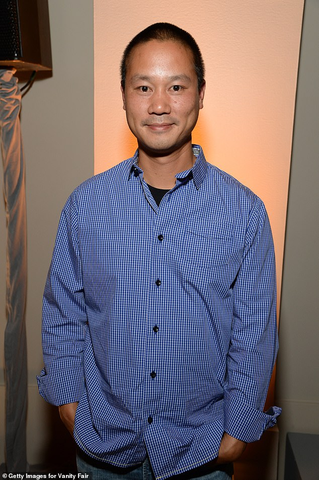 Hsieh (pictured) was the son of Taiwanese immigrants andfounded Venture Frogs which in 1999 invested in Zappos — named from Zapatos, Spanish for shoes