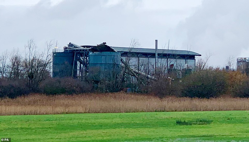 Witnesses reported a 'loud bang' while others recalled seeing emergency services rushing to the industrial site earlier today