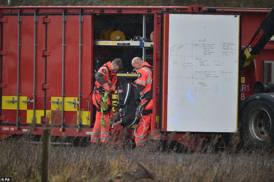 Crews from five different fire services were in attendance at the scene after the 11.20am blast