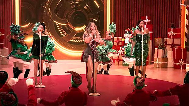 Mariah Carey, Ariana Grande & Jennifer Hudson Serve Up Plenty Of Holiday Cheer In Festive 'Oh Santa' Video