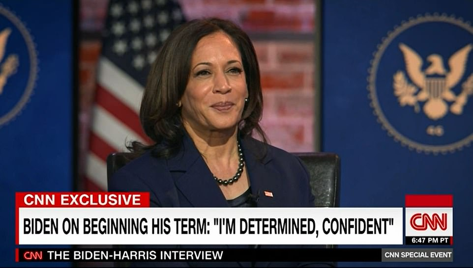 Vice President elect Kamala Harris said she and President-elect would be 'full partners' in the White House
