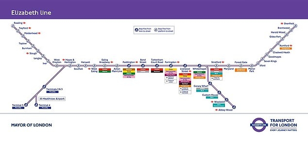 The railway - which will run as the Elizabeth Line between Berkshire and Essex via central London - was due to open in December 2018