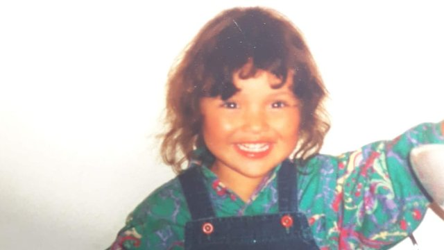 Mariela as a child