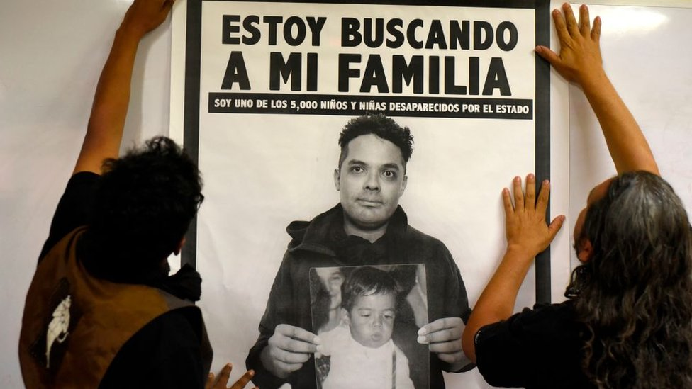 Campaign poster of youth robbed in Guatemala