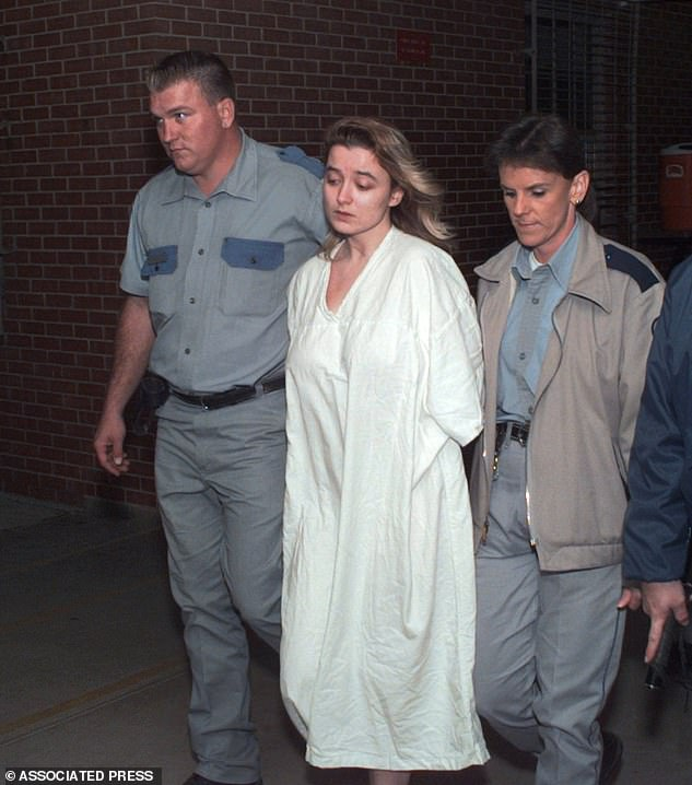Routier is escorted into the Mountain View unit of the Texas Department of Corrections in Gatesville, Texas, where she is now one of six women awaiting execution