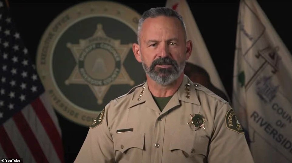Riverside County Sheriff Chad Bianco released a video on Friday accusing Newsom of being a ¿bully¿ and vowed that his department won't be ¿blackmailed¿ into enforcing the stay-at-home orders