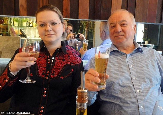 Putin is trying to use Covid to kill people on the streets of Britain just as surely as he did when his agents released novichok on the streets of Salisbury. Pictured:Sergei Skripal and Yulia Skripal, a former Russian spy critically ill after suspected poisoning in Salisbury