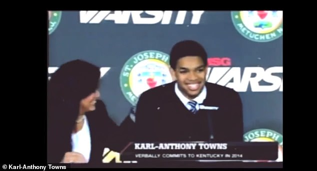 Towns shared a touching tribute to his mother showing her by his side during the major events in his career following her death after 19 days in a coma in April