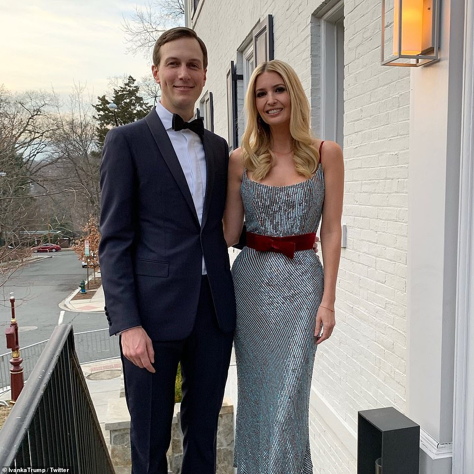 Ivanka recycled a $2,750 Markarian dress she had first worn for the annual Gridiron dinner in March last year, pictured then
