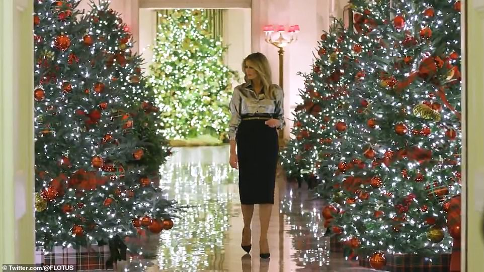 Melania personally selected every detail of the holiday season, the East Wing said. There are acknowledgements of the pandemic that has infected more than 13 million Americans and killed more than 267,000