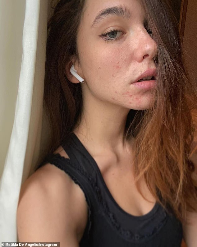 Imperfections: The Italian-born actress has made it a point to inform people about the 'muddied image' on social media as she said she tries to show off her imperfections; pictured Friday
