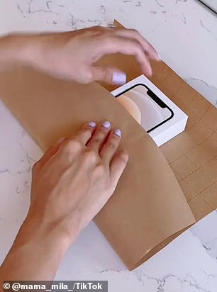 The Australian woman called Chantel Mila shared videos showing how you can wrap your gifts, and millions said they will be trying her tricks this Christmas (step by step pictured)