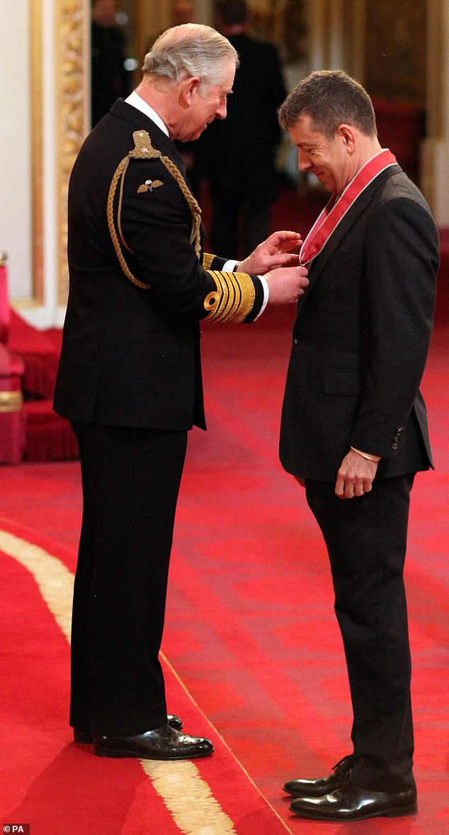Peter Morgan, the creator and writer of The Crown,accepted the honour of Commander of the Order of the British Empire in 2015
