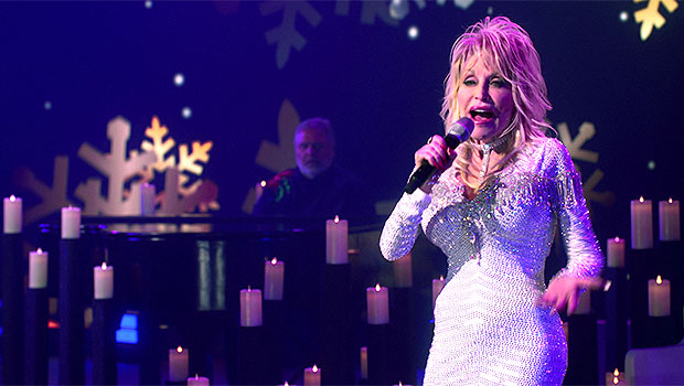 Dolly Parton, 74, Stuns In Sequined White Dress For 'Holly Dolly Christmas' Special