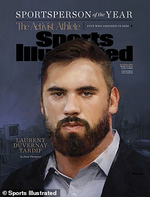Chiefs right guard-turned-hospital orderly Laurent Duvernay-Tardif