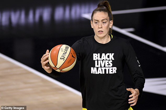 Breanna Stewart, 26, rebounded from a season-ending injury in 2019 to win her second WNBA title with the Storm. Like Osaka, Stewart and her fellow WNBA players continued to emphasize the Black Lives Matter movement, while honoring the victims of police violence. She even tweeted her hope that the WNBA would have 'BLM' on its court inside the league bubble in 2020 — a move that was ultimately adopted by both her league and the NBA